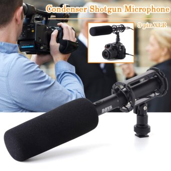 Harga Boya PVM1000 Condenser Shotgun Microphone 3-pin XLR for Camera Camcorder - Hitam