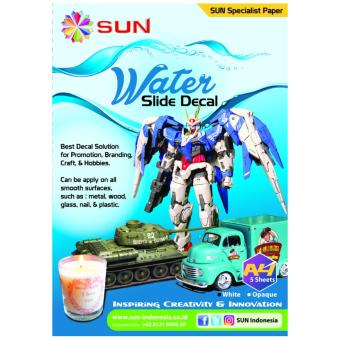 Harga Kertas Decal Transfer Paper - SUN Water Slide Decal Paper White A4