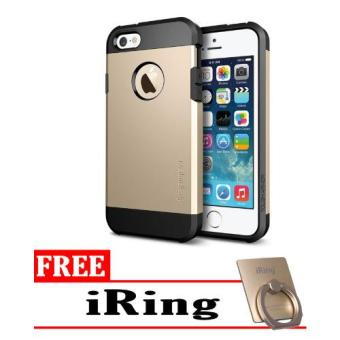 Case iPhone 4 Series Slim Armor - Gold + Free iRing