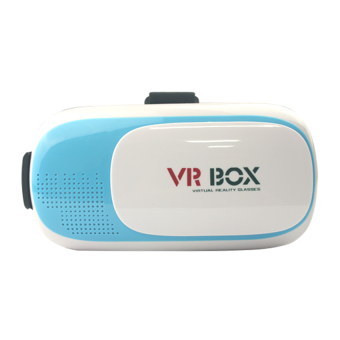 Harga VR Box Virtual Reality Glasses 3D - Biru