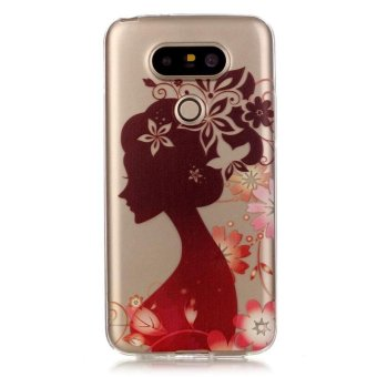 Hot Pattern Girl silhouettes TPU Soft Gasbag Back Case Cover For LG G5 Case - intl