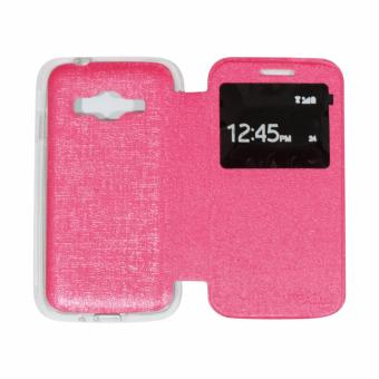 Harga AIMI Samsung Galaxy J1 Mini Prime V2 Flipcover / Flipshell / Sarung Case / Sarung HP / Leather Case Syntetic - Pink