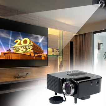 Harga UC28 PRO HDMI Portable Mini LED Entertainment Projector Home Cinema Theater US Black