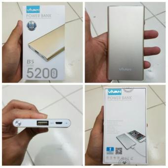 Harga Vivan B5 5200mah Power Bank Special for iphone 6s/Plus Edition Silver