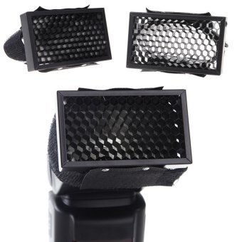 Harga Universal Honeycomb Cover Speed Grid for Flash External Camera Flash Diffuser - intl