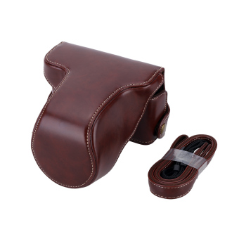 Harga Classic PU Leather Camera Case Bag Protective Pouch with Shoulder Strap for Fuji Fujifilm XA10 XA-10 X-A1 X-A2 X-A3 X-M1(Coffee) - intl