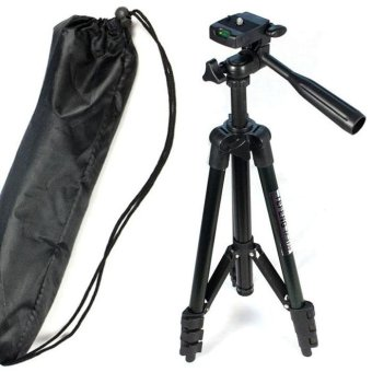 Harga Flexible Standing Tripod for Sony Canon Nikon Samsung Kadak Camera Black - intl