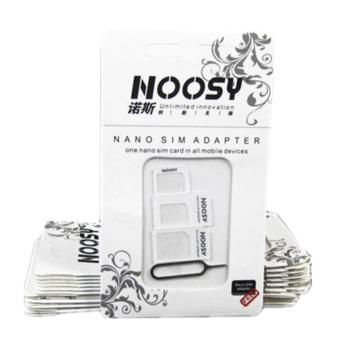 Harga Noosy SIM Adapter 3in 1 Ori - White