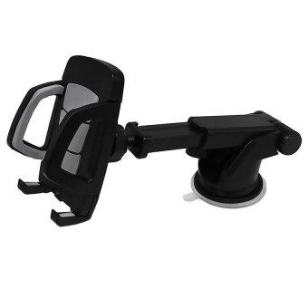 Yika 360°Windshield Universal Car Mount Bracket For iPhone Samsung GPS (Silver)