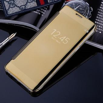 Harga Samsung Galaxy C5 2016 Flipcase Flip Mirror Cover S View Transparan Auto Lock Casing Hp-Gold