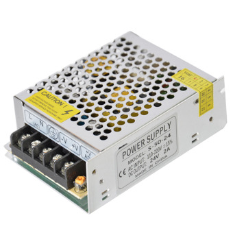 24 V 2 amp 48 watt pengalihan catu daya sopir transformator untuk Strip LED kamera keamanan
