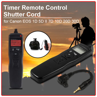 Harga LCD Timer Remote Shutter Release + Cord Cable for Canon EOS 1D 5D 6D 7D