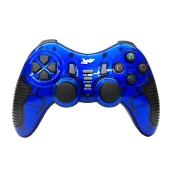 Harga K-One Gamepad Stik Wireless 2.4G Support PS2 / PS3 / PC / Android TV - Biru