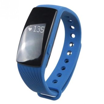BLN ID107 Bluetooth 4.0 Smart Bracelet band Heart Rate Monitor Fitness Tracker Wristband for Android iOS (Blue) (Intl)