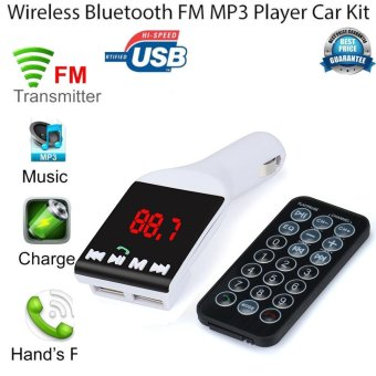 Harga Erpstore Bluetooth Wireless FM Transmitter MP3 Player Handsfree Car Kit USB TF SD Remote - intl
