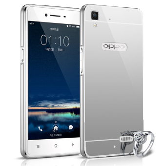 Harga Case Oppo R7/R7 Lite Alumunium Bumper With Mirror Backdoor Slide- Silver