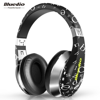 Harga Bluedio A Wireless Bluetooth Flexible Headphone with Mic (Black)