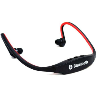 Harga Teiton USB Sport Neck Wireless Bluetooth Headset - Hitam-Merah