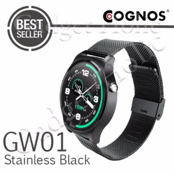 Harga Cognos Smartwatch GW01 - GSM - Heart Rate - Stainless Black