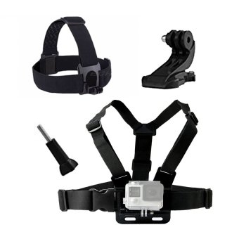 Harga Action Camera accessories Chest belt Head belt for Gopro SJCAMSJ4000 xiaomi yi Chest Strap Head Strap go pro accessories