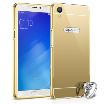 Harga Case For Oppo R9 / F1 Plus Bumper Slide Mirror - Gold