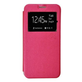 Harga Smile Flip Cover Andromax A - Hot Pink