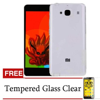 Harga Accessories Hp Ultrathin for Xiaomi for Redmi 2 Aircase Abu-abu Clear + Gratis Tempered Glass