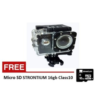 Harga Kogan Action Camera 1080p - 12MP NV - WIFI - Hitam - Free Micro SD STRONTIUM 16 GB