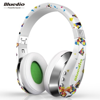 Harga Bluedio A Wireless Bluetooth Flexible Headphones with Mic (White)
