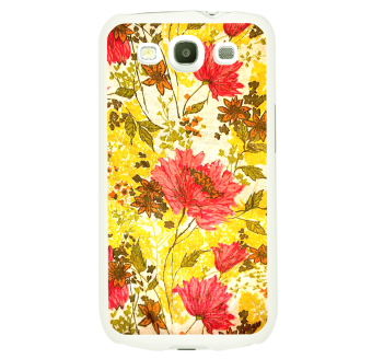 OnlineBestDigital Flower Pattern Hardback Case for Samsung Galaxy S3 III I9300 Red and Yellow Flower