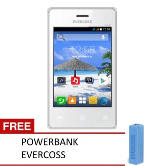 Harga Evercoss A53* - 512MB - Putih + FREE POWERBANK EVERCOSS