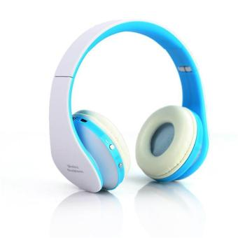 Harga Fashion innovative bluetooth headset outdoor sports wireless bluetooth headphones - blue - intl