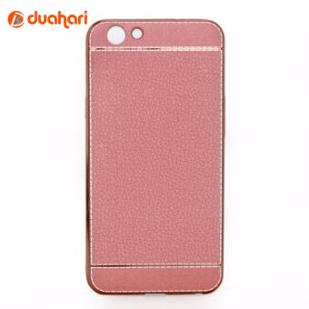 Harga Casing OPPO F1S Leather chrome