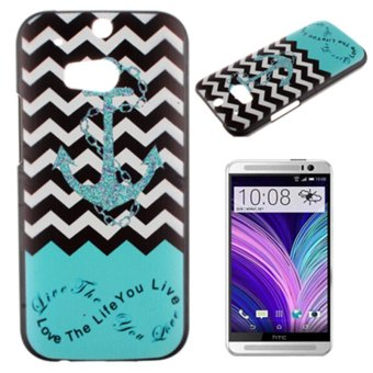 Harga Moonmini Anchor Ultra Thin Hard PC Snap-on Back Case Cover for HTC One M8 (Multicolor)