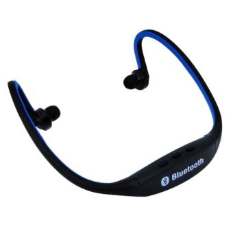 Harga Teiton USB Sport Neck Wireless Bluetooth Headset - Hitam Biru