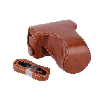 Harga Classic PU Leather Camera Case Bag Protective Pouch with Shoulder Strap for Fuji Fujifilm XA10 XA-10 X-A1 X-A2 X-A3 X-M1(Brown) - intl
