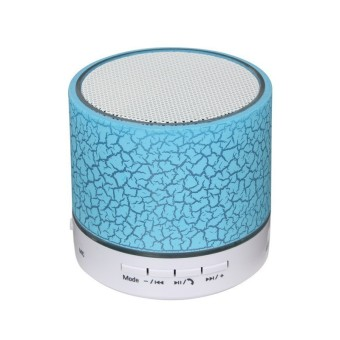 Harga A9 Portable Wireless Bluetooth Speaker Crack Colorful Lights (Blue) - Intl