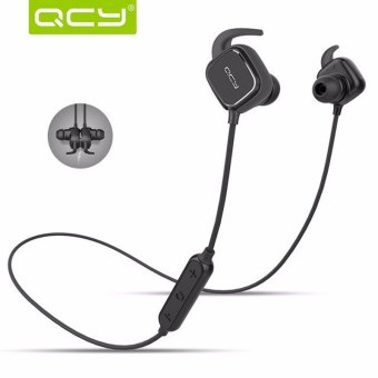 Harga QCY QY12 New Sport Stereo Magnetic Adsorption Bluetooth 4.1 Headphone Earphone - intl