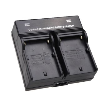 Harga Digital Dual / Double Charger Baterai Sony NP-F570 NP-F770 NP-F970
