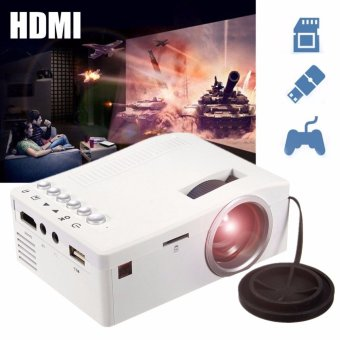 Harga Full HD 1080P Home Theater LED Mini Portable Projector Cinema USB TV VGA SD AV - intl