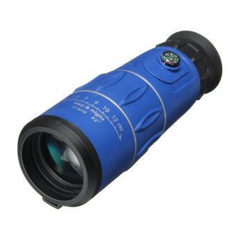 Harga New 26 X 52 HD Clear Zoom Optical Monocular Telescope Sport Camping Night Vision Blue