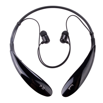 Harga Yika Flexibility Wireless Bluetooth Neckband Stereo Headset (Black)