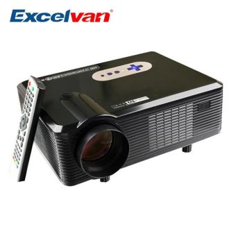 Harga Excelvan CL720D Projector 3000 Lumens Support 1080P HD Home Theater 720P Led Projector HDMI / VGA/ USB/ AV /DTV Projector - intl