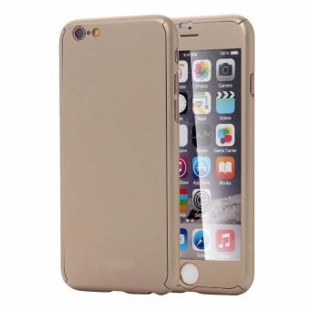 Hardcase Cover 360 Full Body iPhone 6/6S free Tempered Glass (Gold)