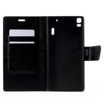 Crazy Horse Leather Card Holder Case for Lenovo K3 Note K50-t5 / A7000 (