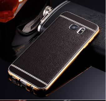 Harga Phone case soft leather mobile phone case litchi grain cortical soft shell for Samsung A520/A5(2017) - intl