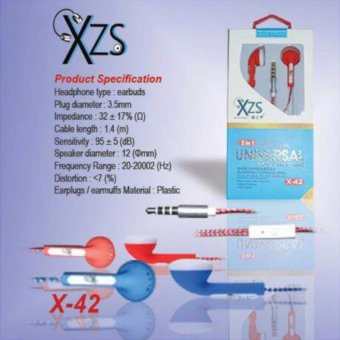 Harga Yarden XZS x-42 universal super BASS Handsfree Sound Only Excellent Sound Quality With Mic - random