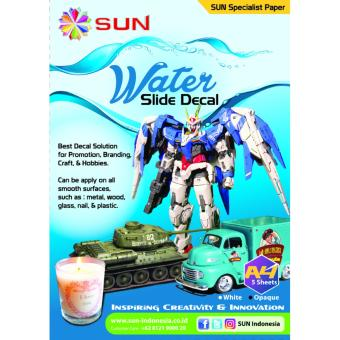 Harga Kertas Decal Transfer Paper - SUN Water Slide Decal Paper Opaque A4
