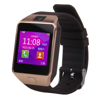 Harga Smart DZ09 Smart Watch Bluetooth Compatible for Android and IOS Brown