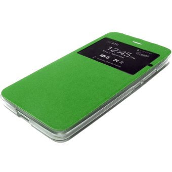 Case Flip Cover Hard Protective For Vivo Y35 - Green